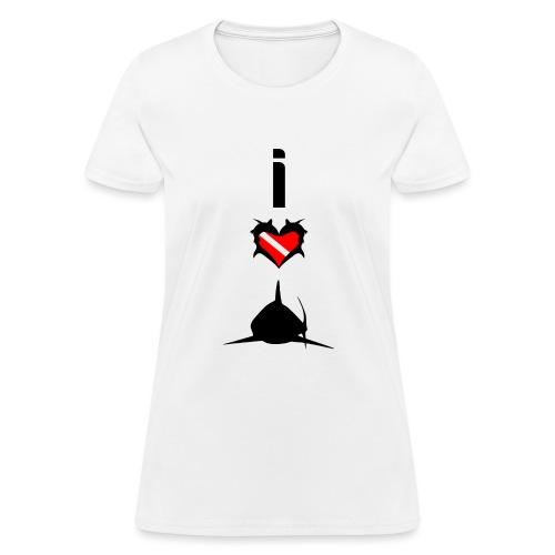 I Love Sharks - Women's T-Shirt