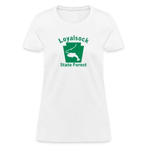 Loyalsock State Forest Fishing Keystone PA - Women's T-Shirt