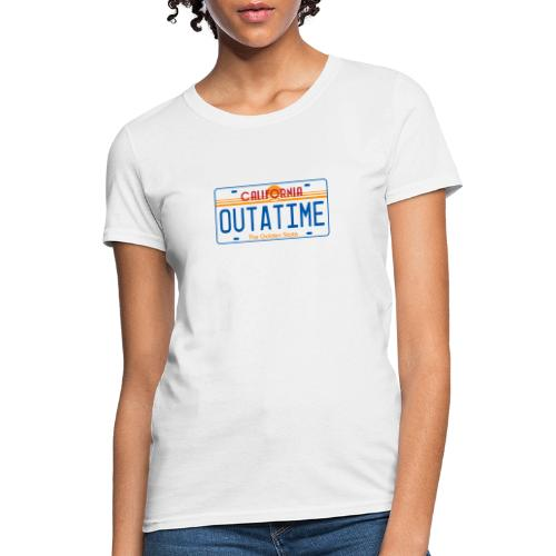 OUTATIME License Plate - Women's T-Shirt