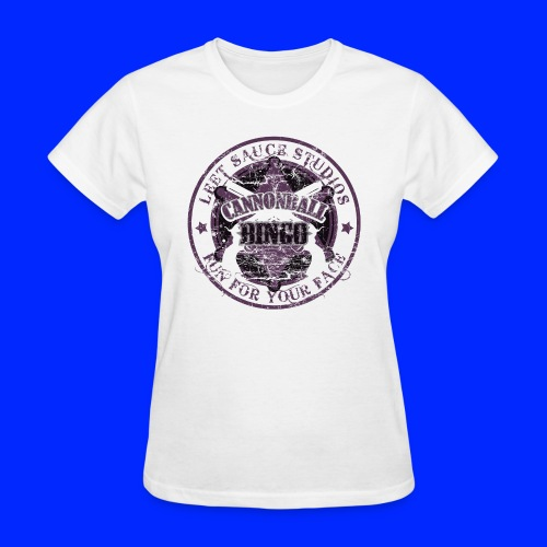 Vintage Cannonball Bingo Badge All Purple - Women's T-Shirt
