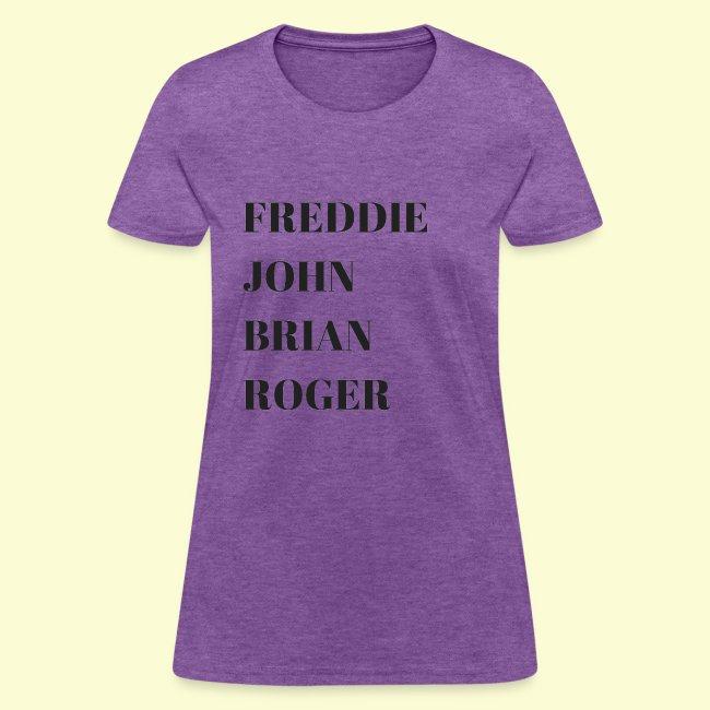 Freddie, John, Brian, Roger t shirt
