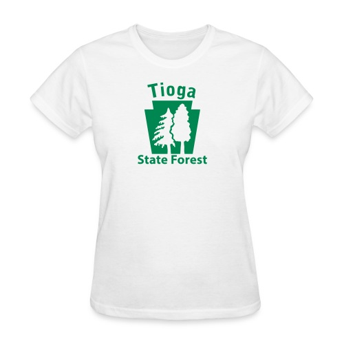 Tioga State Forest Keystone (w/trees) - Women's T-Shirt