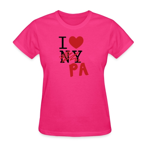I Love (PA) Pennsylvania - Women's T-Shirt