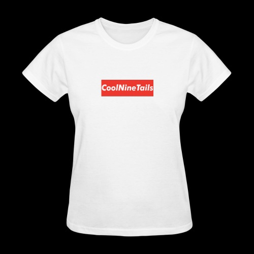 CoolNineTails supreme logo - Women's T-Shirt