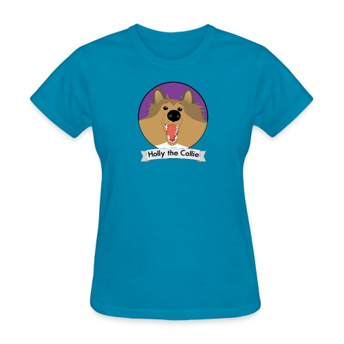 Holly the Collie banner - Women's T-Shirt
