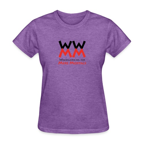 Woodworking for Mere Mortals logo - Women's T-Shirt