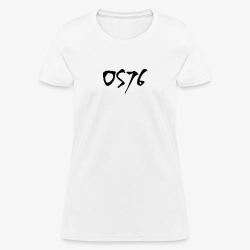 OS76 TYPE BLACK w OUTLINE - Women's T-Shirt