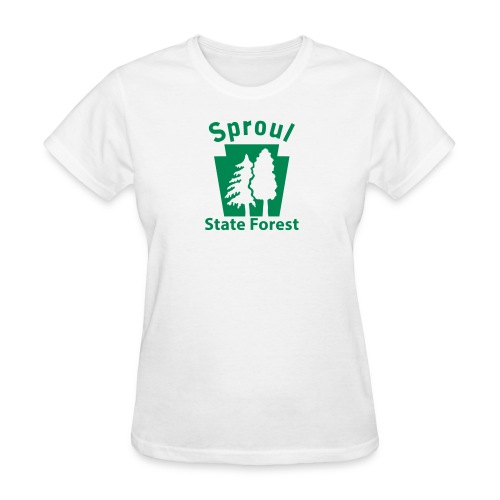 Sproul State Forest Keystone (w/trees) - Women's T-Shirt