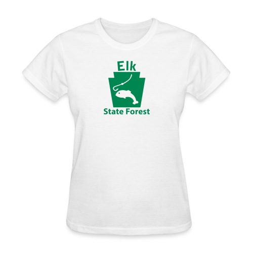 Elk State Forest Fishing Keystone PA - Women's T-Shirt