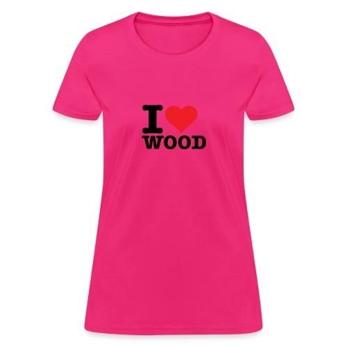 I heart wood - Women's T-Shirt
