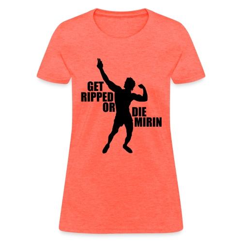 Zyzz Silhouette Get Ripped - Women's T-Shirt