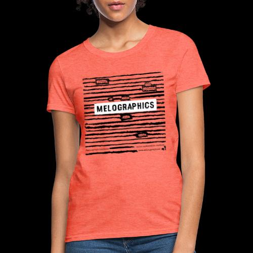 MELOGRAPHICS | Blackout Poem - Women's T-Shirt