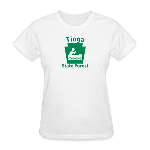 Tioga State Forest Boating Keystone PA - Women's T-Shirt