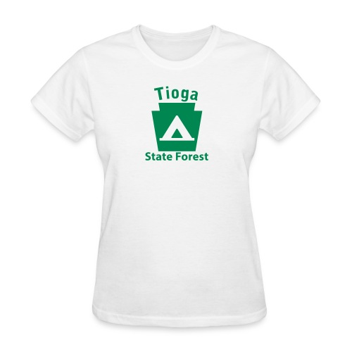Tioga State Forest Camping Keystone PA - Women's T-Shirt