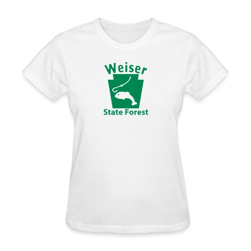 Weiser State Forest Fishing Keystone PA - Women's T-Shirt