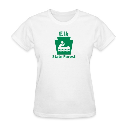 Elk State Forest Boating Keystone PA - Women's T-Shirt