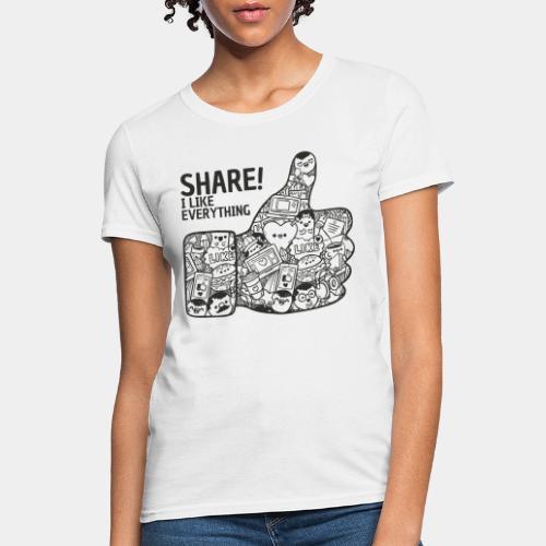 like social media - Women's T-Shirt