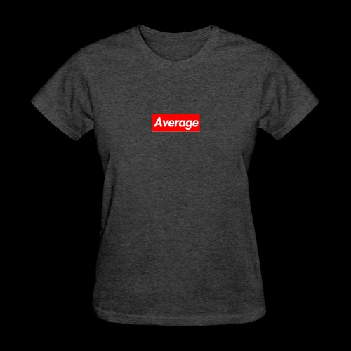 Average Supreme Logo Mockup - Women's T-Shirt