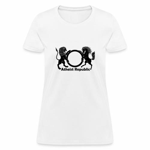 Atheist Republic Logo - Black - Women's T-Shirt