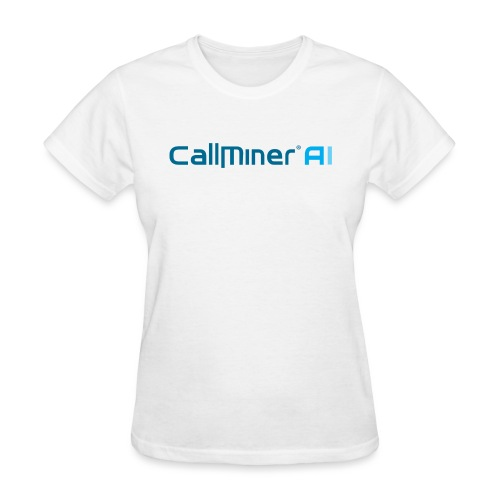 CallMiner AI - Blue on Light Swag - Women's T-Shirt