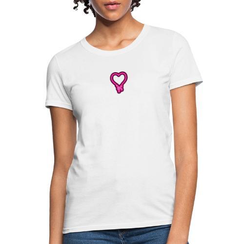 neon heart melt red - Women's T-Shirt
