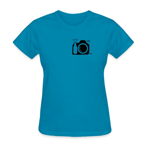Chicago Transparent With Initials BLACK png - Women's T-Shirt