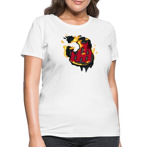 BAB Logo on FIRE! - Women's T-Shirt