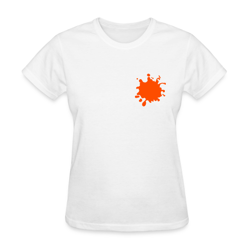 White Explosion Network Logo w/Pocket Splatter Tee - Women's T-Shirt