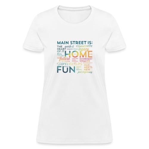 Multi-colored Graphic T-shirt - Women's T-Shirt