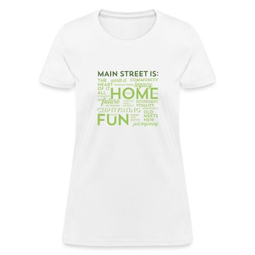 Green Graphic T-shirt - Women's T-Shirt