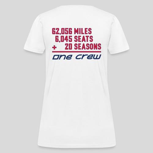 CRC 20th Season White Shirt - Women's T-Shirt