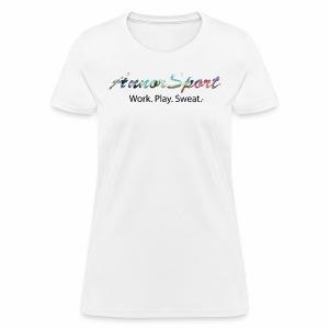 Annor Sport. Work. Play. Sweat. - Women's T-Shirt