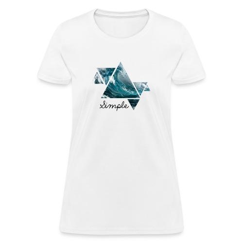 Wave logo(Simple) - Women's T-Shirt