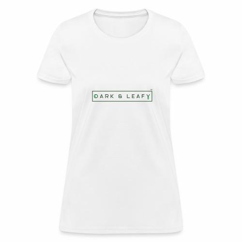 Dark & Leafy Logo - Dark Green - Women's T-Shirt