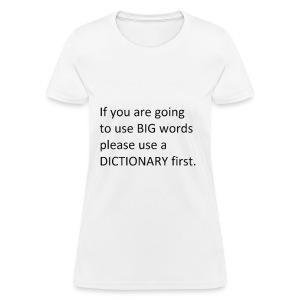 Dictionary First - Women's T-Shirt