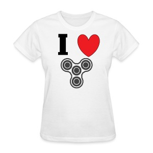 i love fidget spinners! - Women's T-Shirt