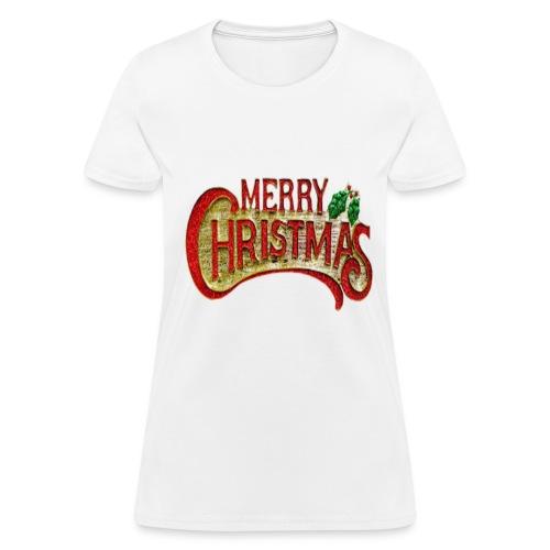 merrychristmas tshirts - Women's T-Shirt