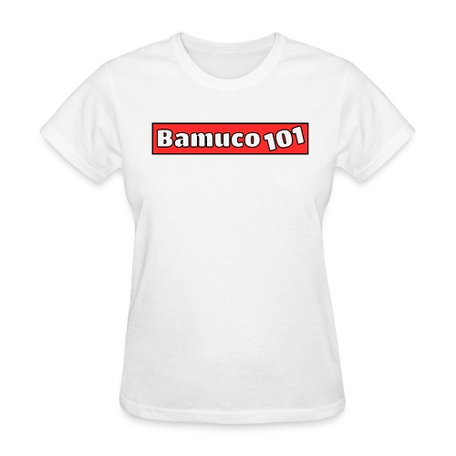 Bamuco101 Logo WhiteOnRed - Women's T-Shirt
