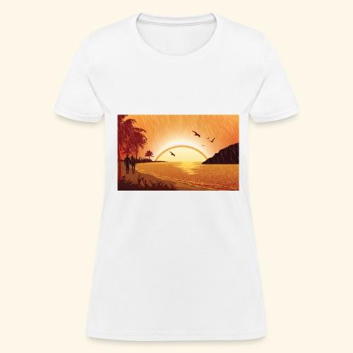 Rainy Beach - Women's T-Shirt
