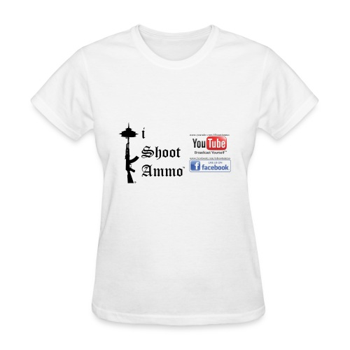 iShootAmmo Logo Youtube & Facebook - Women's T-Shirt