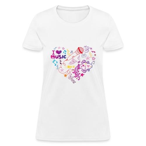 T-shirts music love - Women's T-Shirt