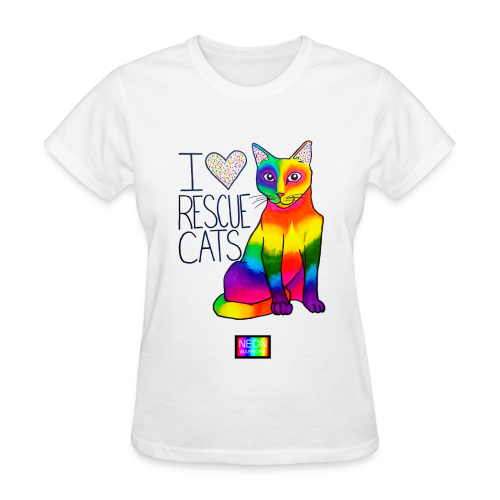 I Heart Rescue Cats - Women's T-Shirt