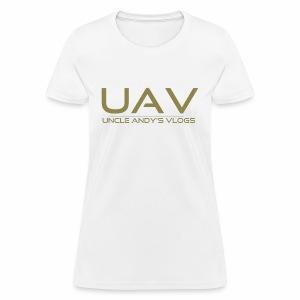 Uncle Andy's Vlogs Merch (gold) - Women's T-Shirt