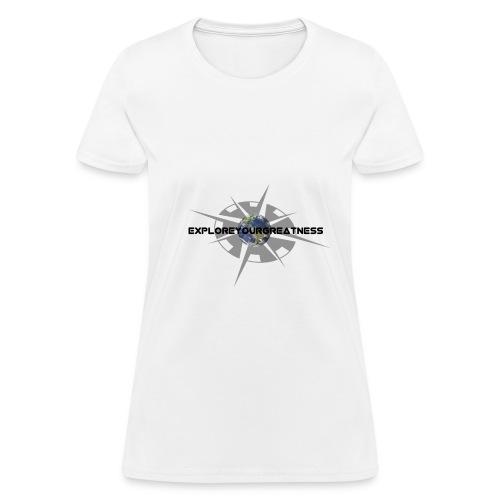 ExploreYourGreatness black logo - Women's T-Shirt