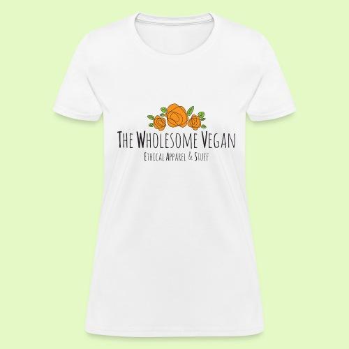 The Wholesome Vegan logo - Women's T-Shirt