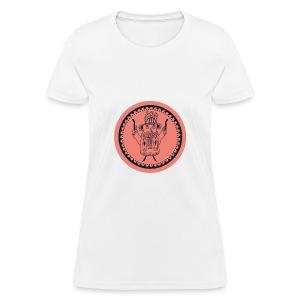 Tiki head campfire - Orange - Women's T-Shirt