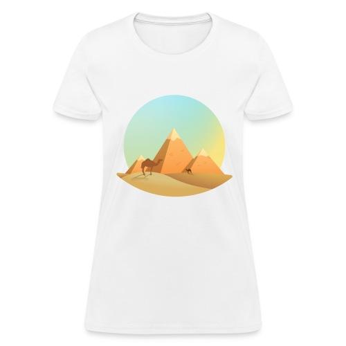 Pyramids & camel - Women's T-Shirt