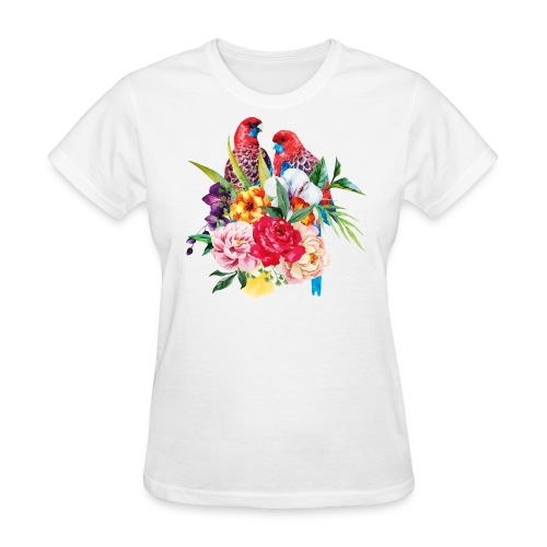 Luminous Sweet Tropical Toucan Watercolor Print - Women's T-Shirt