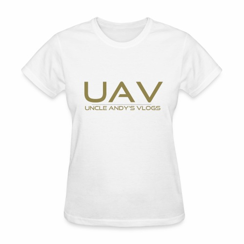 Uncle Andy's Vlogs Merch (gold) - Women's T-Shirt