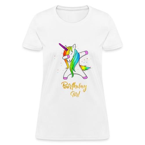 unicorn birthday girl - Women's T-Shirt